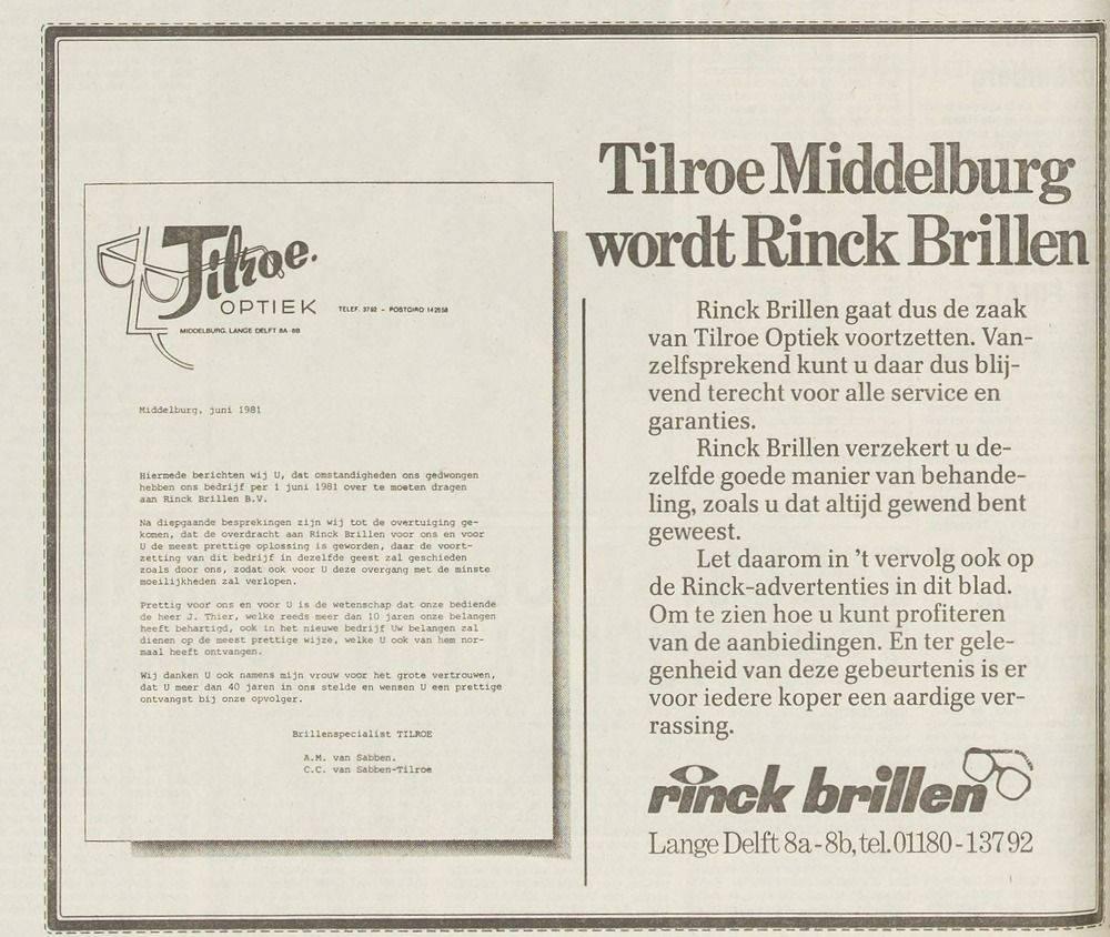 Afbeelding #002 voor het verhaal Uit de Middelburgse geschiedenis: Tilroe in de Lange Delft