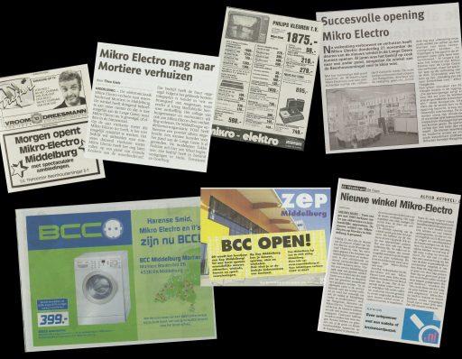 Afbeelding #001 voor het verhaal Uit de Middelburgse geschiedenis van BCC en Mikro-Electro