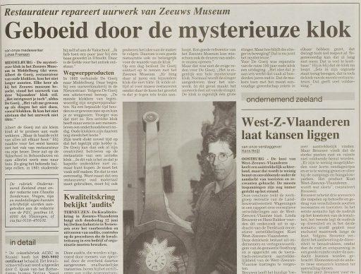 Afbeelding #002 voor het verhaal Uurwerkmakerij Albert de Goeij: open huis in de Gortstraat