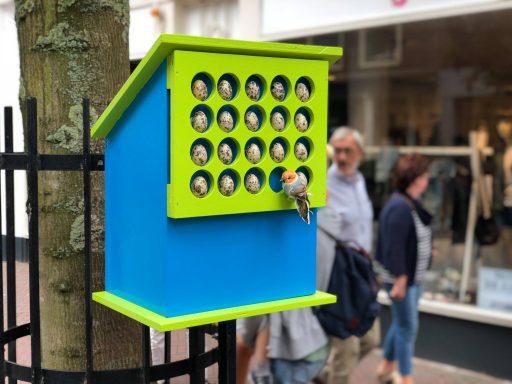 Afbeelding #004 voor het verhaal Vrolijk en kleurrijk: vogelhuisjes in de Segeersstraat