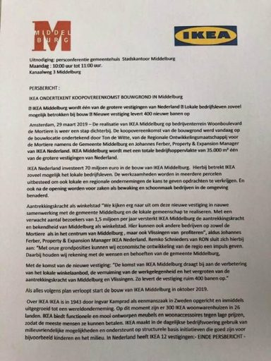 Afbeelding #000 voor het verhaal Waaat? IKEA naar Middelburg?