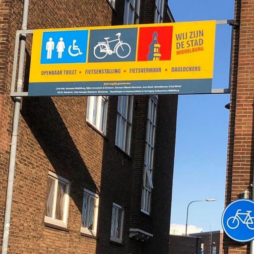 Afbeelding #000 voor het verhaal Welkom in Middelburg! Een entreebord voor servicecentrum Zusterplein
