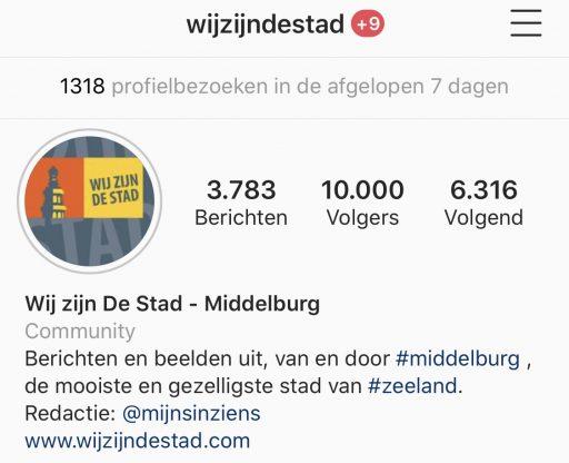 Afbeelding #000 voor het verhaal Wij zijn De Stad! 10.000 volgers op Instagram