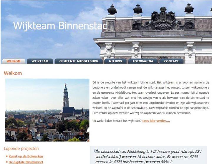 Afbeelding #000 voor het verhaal Wijkteam Binnenstad Middelburg: een nieuwe site en Facebookpagina