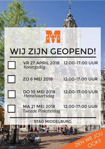 Afbeelding #000 voor het verhaal Winkels Middelburg ook geopend op Koningsdag, Hemelvaart en tweede Pinksterdag 2018