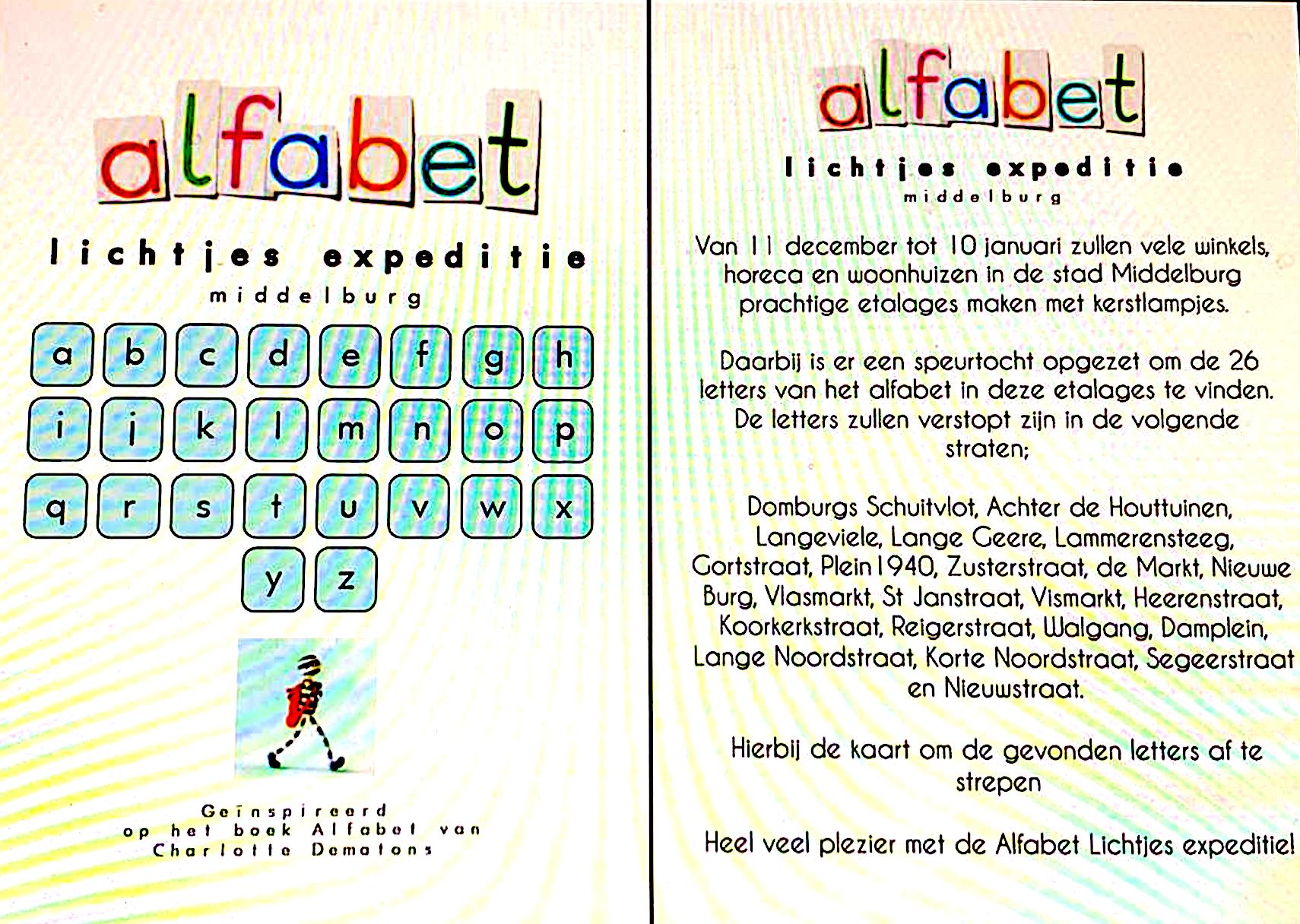 Afbeelding #002 voor het verhaal De Alfabet Lichtjes Expeditie maakt een feestje van Middelburgse (etalage-)ramen