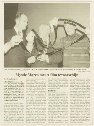 Afbeelding #002 voor het verhaal Mystic Marco, de goochelende cultheld