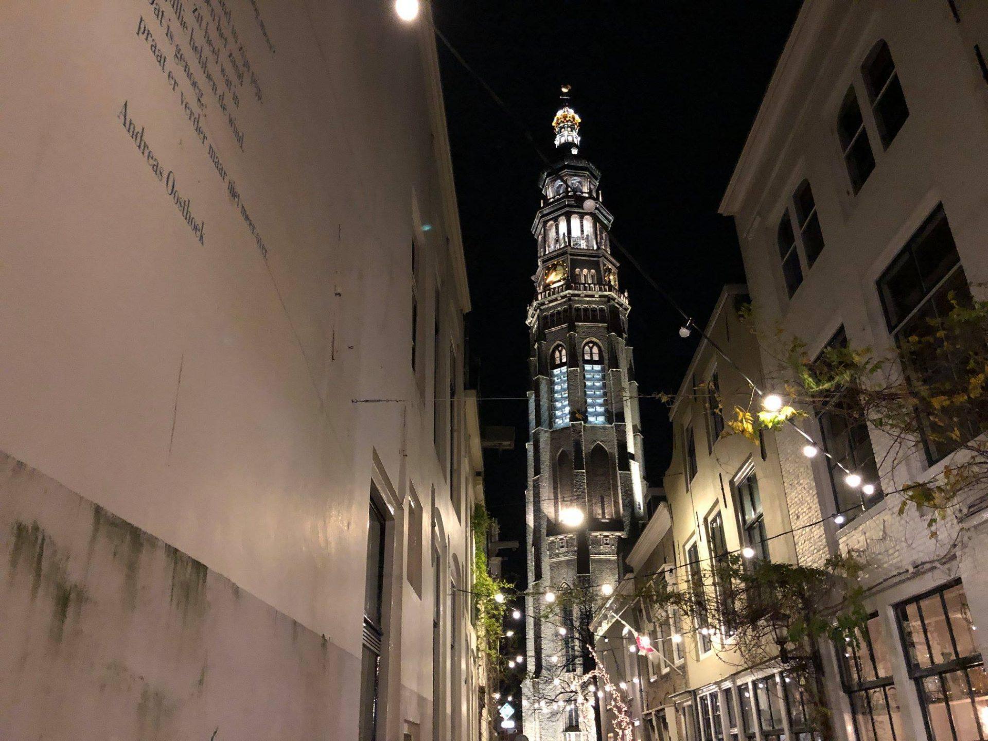 Afbeelding #000 voor het verhaal Vanaf vandaag dagelijks lichtshows vanuit de Lange Jan in Middelburg