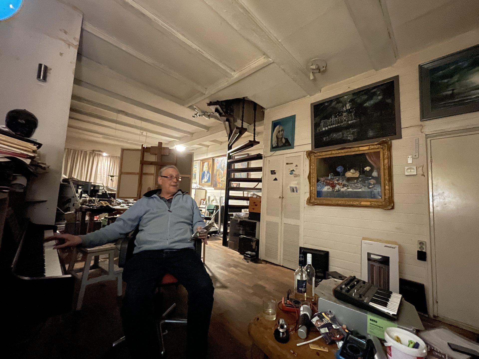 Afbeelding #000 voor het verhaal Dirk van der Plas: ook pianist
