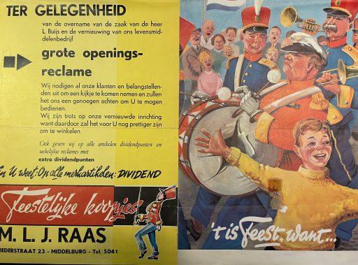 Afbeelding #001 voor het verhaal Middelburg, jaren zestig: de voedingsmarkt en noodwinkel van de familie Raas
