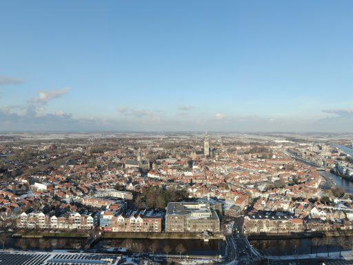 Afbeelding #002 voor het verhaal Ice Flight: Middelburg van boven, 10 februari 2021