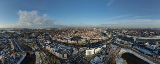 Afbeelding #003 voor het verhaal Ice Flight: Middelburg van boven, 10 februari 2021