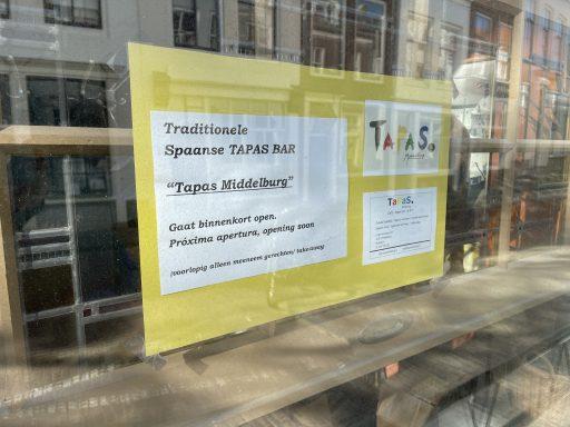 Afbeelding #000 voor het verhaal Tapas Middelburg opent half maart in de Lange Noordstraat