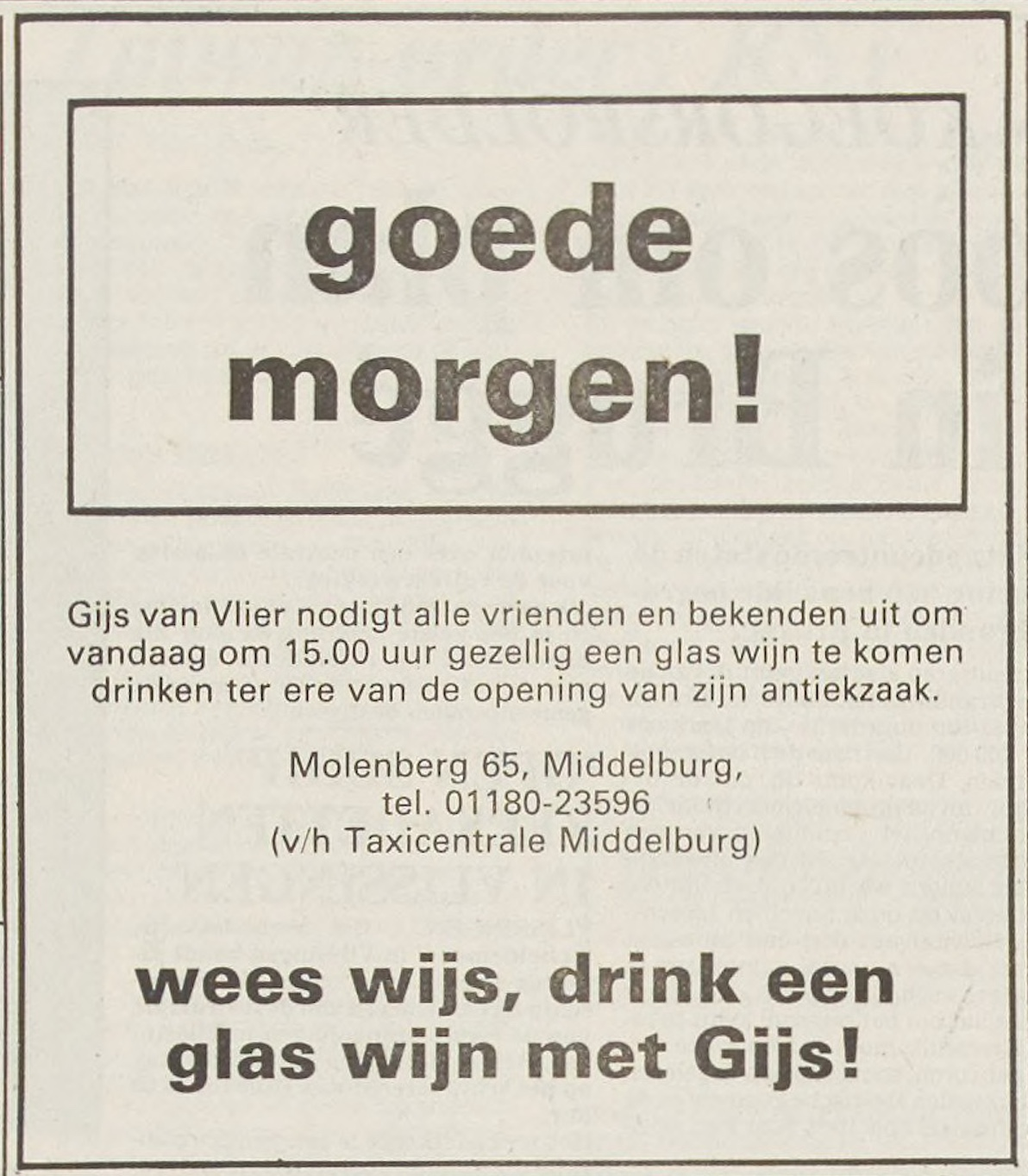 Afbeelding #001 voor het verhaal Wees wijs, drink een glas wijn met Gijs