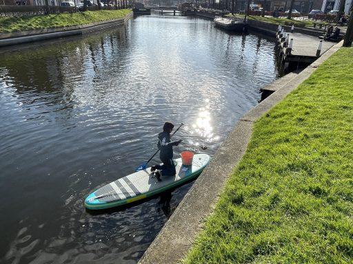 Afbeelding #013 voor het verhaal Supclean-up vist Middelburgse grachten schoon