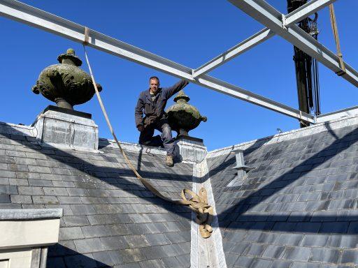 Afbeelding #014 voor het verhaal Een bijzonder karwei: zonnepanelen op het dak van de Koepoort in Middelburg