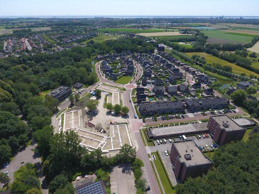 Afbeelding #005 voor het verhaal Deze week in de Bode: Rittenburg in aanbouw, gezien vanuit de lucht