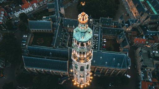 Afbeelding #000 voor het verhaal Twee keer mooi Middelburg van boven