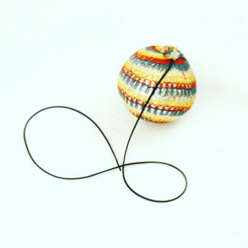 Afbeelding #000 voor het verhaal Over Gerja van Piet van Hekken en de gekleurde werpballen aan een elastiekje
